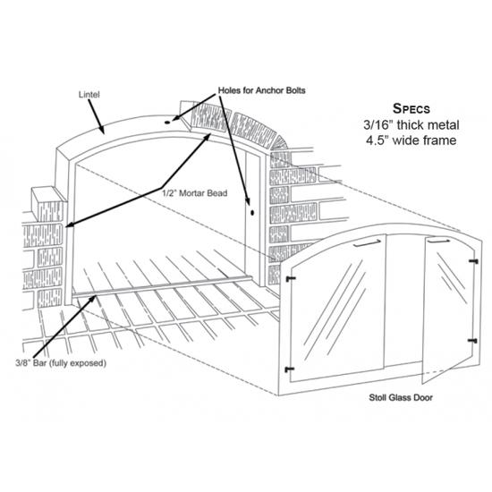 Arch mortar frame specs
