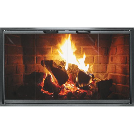 Special Z Zero Clearance Fireplace Door In Black