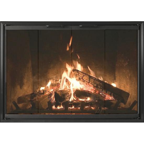 Z-Decor Zero Clearance Fireplace Door shown in Black