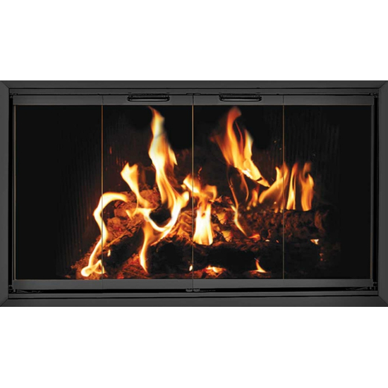 Z-Door Zero Clearance Fireplace Door In Black