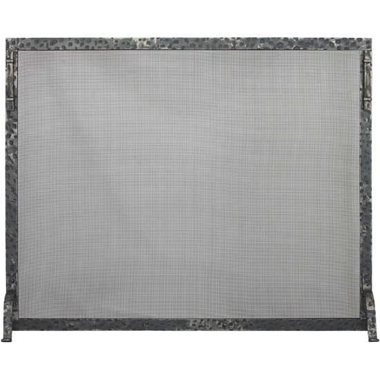 Allegheny Fireplace Screen shown with clear natural finish