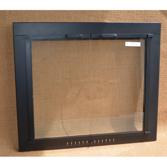 36x31 Inch Matte Black Pioneer Fireplace Door