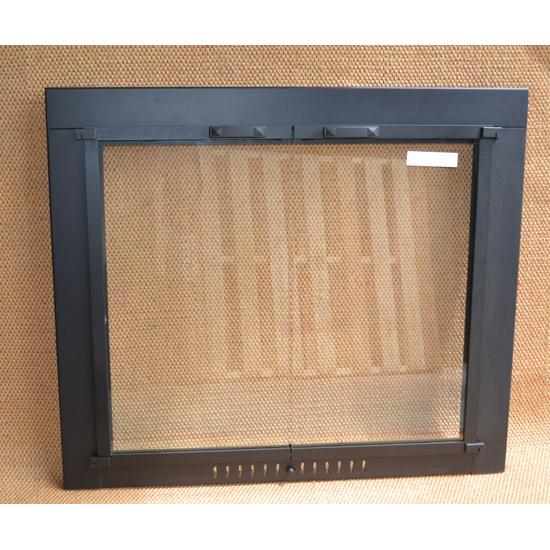 Black Pioneer Fireplace Glass Door Black