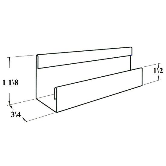 Decortaor Track Size - Where Glass Door Will Slide In