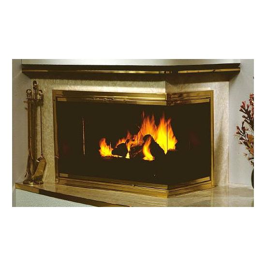 Terrific Genesis Masonry Glass Corner Fireplace Enclosure Download Free Architecture Designs Viewormadebymaigaardcom