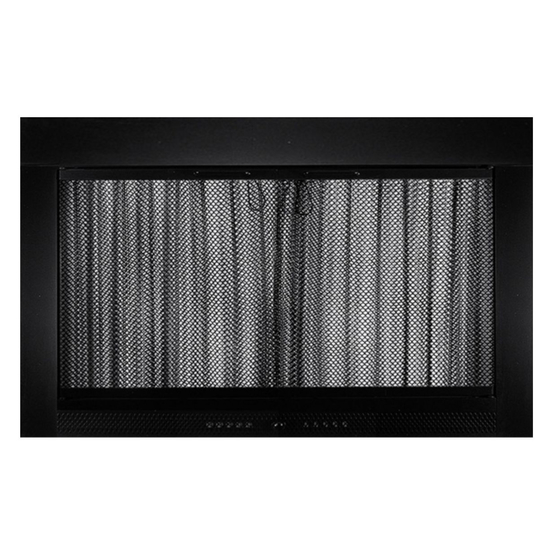 Flat Black Slimline Fireplace Door