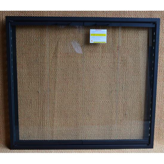 Matte Black Huntington 4-Sided Fireplace Door