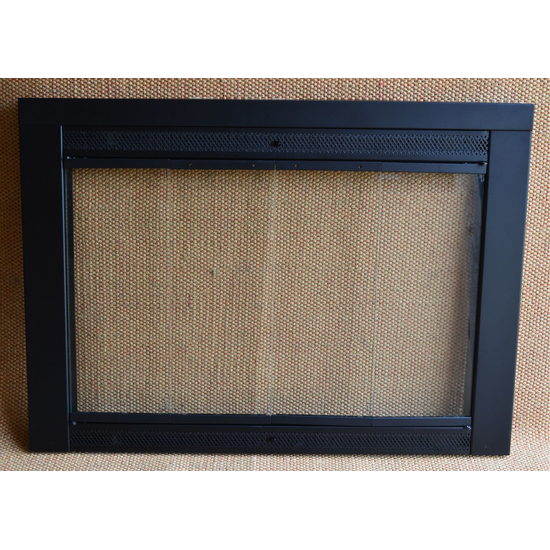 Flat Black Fireplace Door