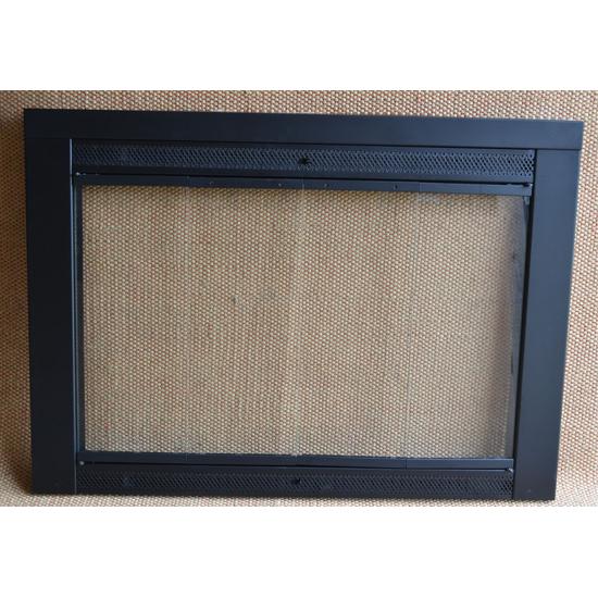 Flat Black Fireplace Door