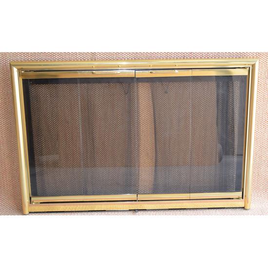Polished Brass Mystique Fireplace Door