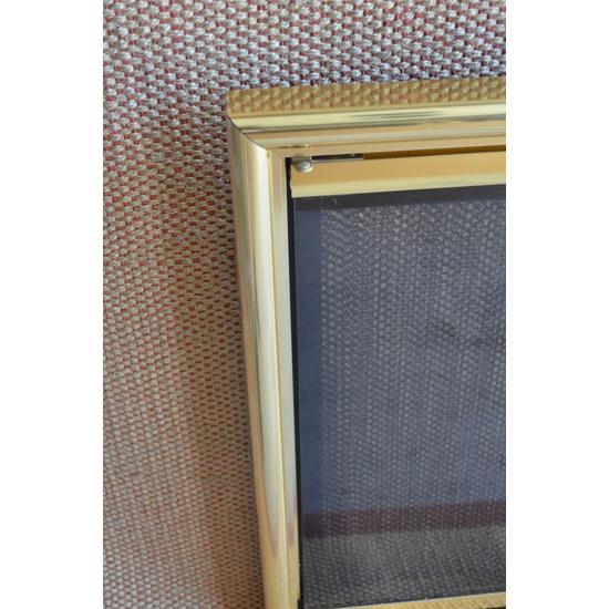 Mystique Fireplace Door Corner Detail
