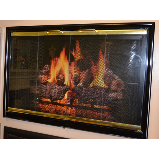 Mystique Fireplace Door