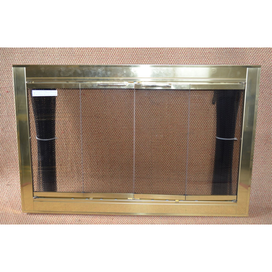 Polished Brass Optima Fireplace Door Polished Brass Finish