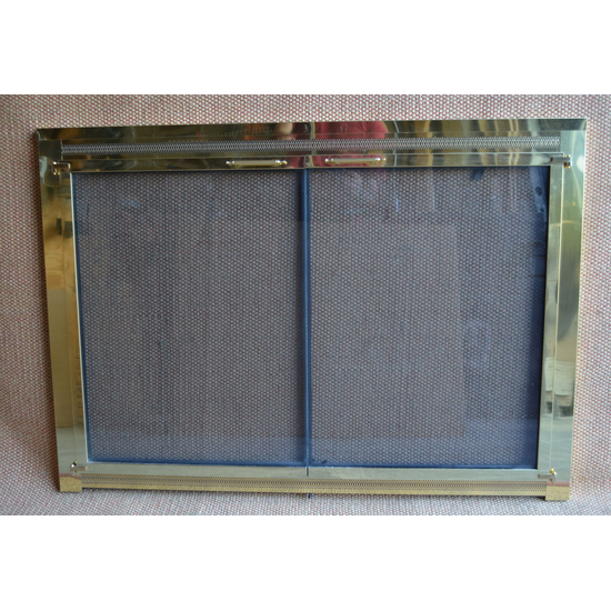 Polished Brass Original Fireplace Door