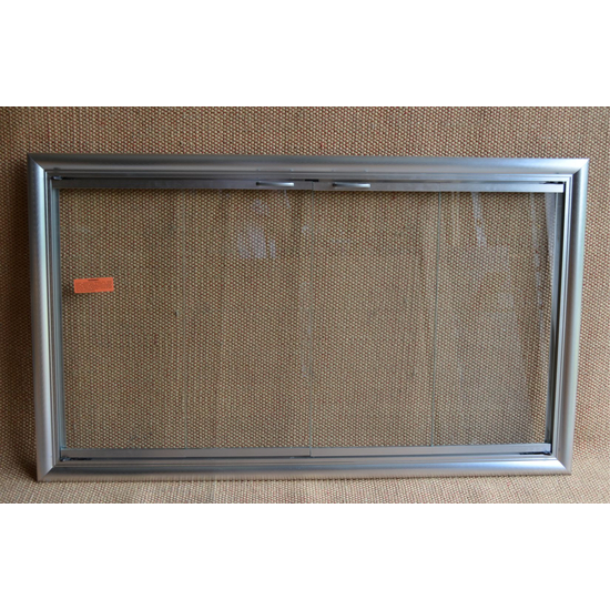 Satin Nickel Phoenix Fireplace Door