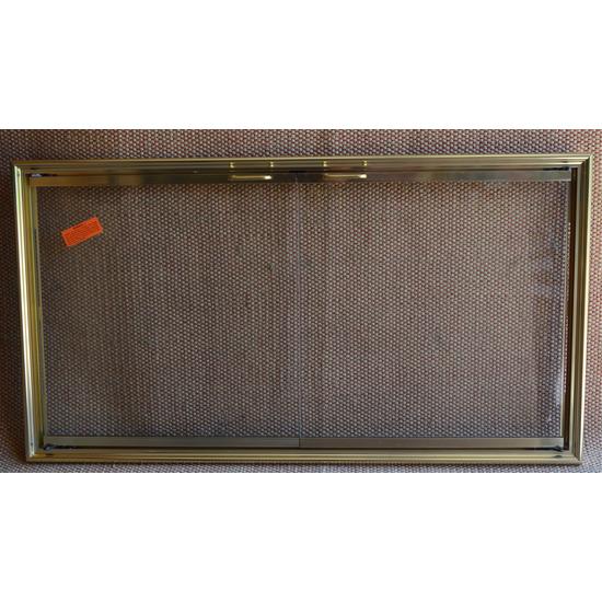 Shadow Zero Clearance Fireplace Door Polished Brass