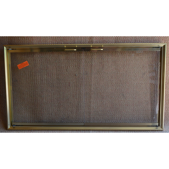 Shadow Zero Clearance Fireplace Door Polished Brass