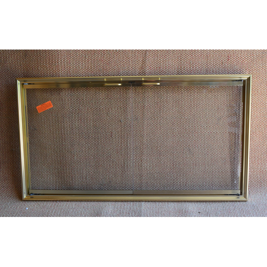 Shadow Fireplace Door In Polished Brass
