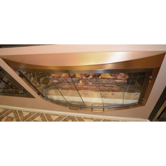 Top View Of Bay Window Glass Door