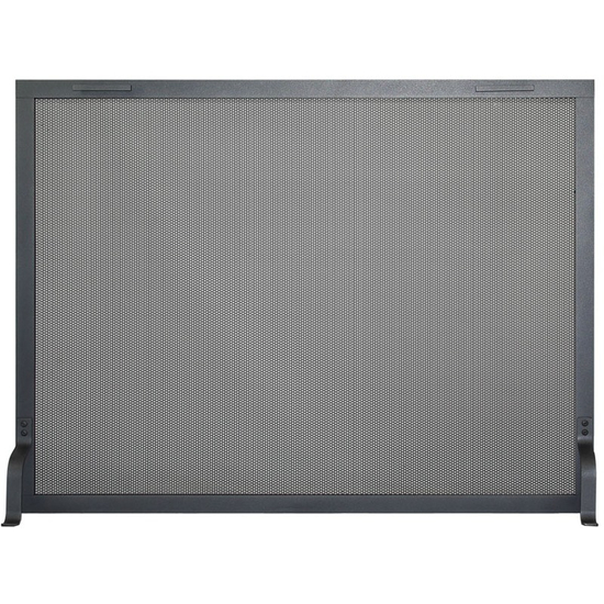 Traditional Fireplace Screen shown in charcoal powder coat finish