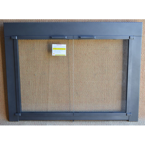 Charcoal Tusher Fireplace Door