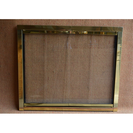 Polished Brass Slimfyre Fireplace Door