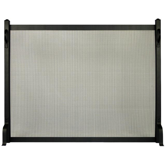 Appalachian Fireplace Screen in matte black