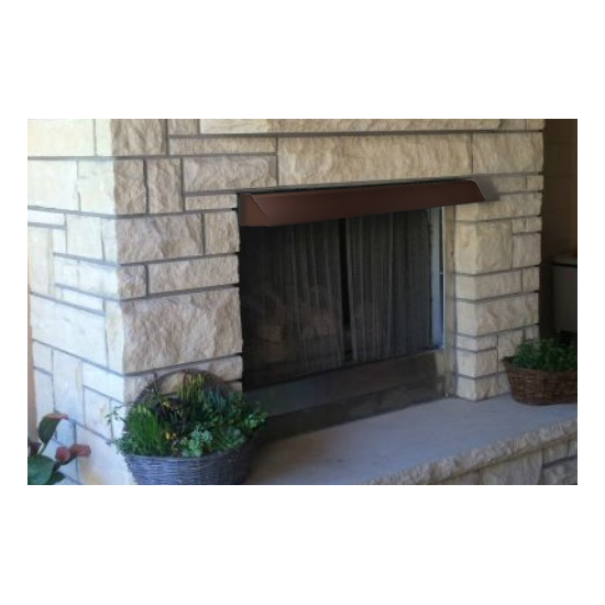 """39"""" Fireplace Hood In Weathered Brown"""