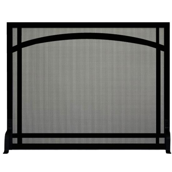 Arch Window Pane Decorative Fireplace Screen