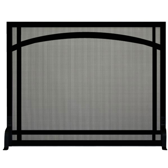 Arch Window Pane Decorative Fireplace Screen