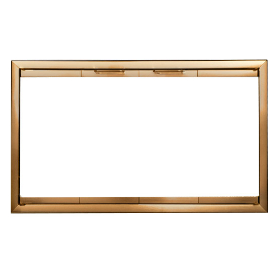 Belmont Fireplace Door In Antique Brass