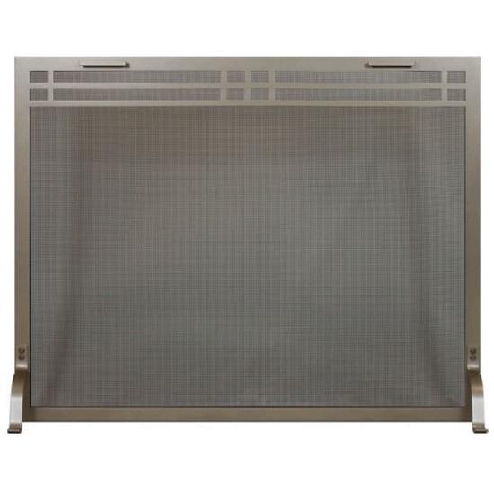 Shaker Decorative Fireplace Screen shown in charcoal powder coat finish