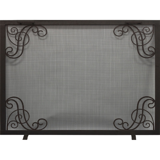 Symphony Decorative Fireplace Screen shown in Bronzed Iron
