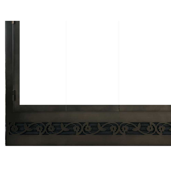 Legend ZC Deluxe Steel Refacing Bottom Left Corner Detail with Tuscan louver