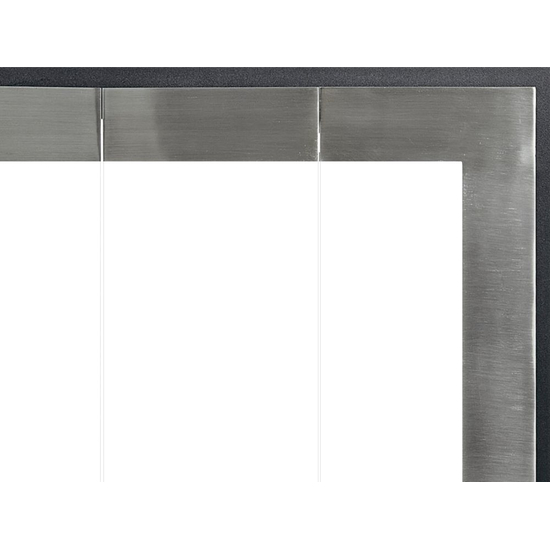 The Original Moderne has a brushed steel finish for the door stiles.