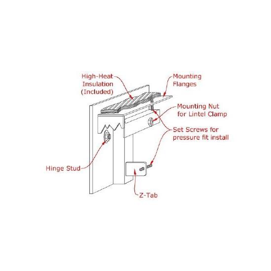 Cascadian Flush Fit Fireplace Door Profile