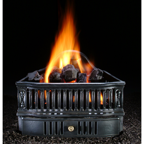 Old World Basket With Coals