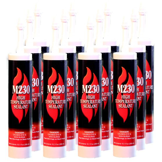 M230 High Temperature Black Sealant Case Of 16