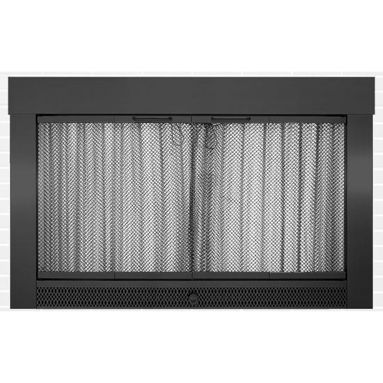 Slimline Fireplace Door in Flat Black