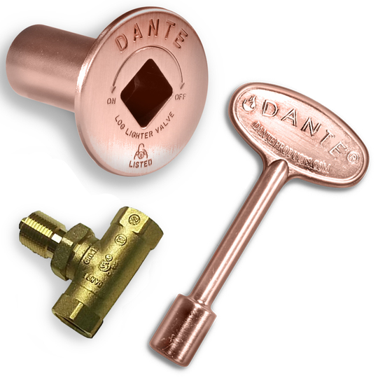 Dante Antique Copper Straight Quarter-Turn Shut-Off Valve Kit