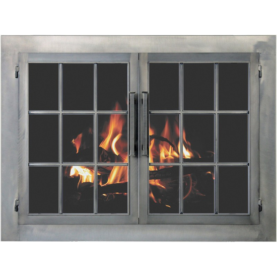 Edison Masonry Fireplace Door in Antique White premium finish