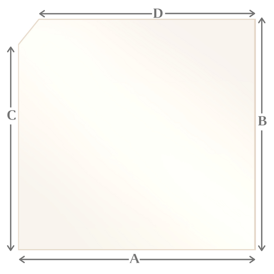 R11 Specialty cut pyroceramic glass for wood stoves