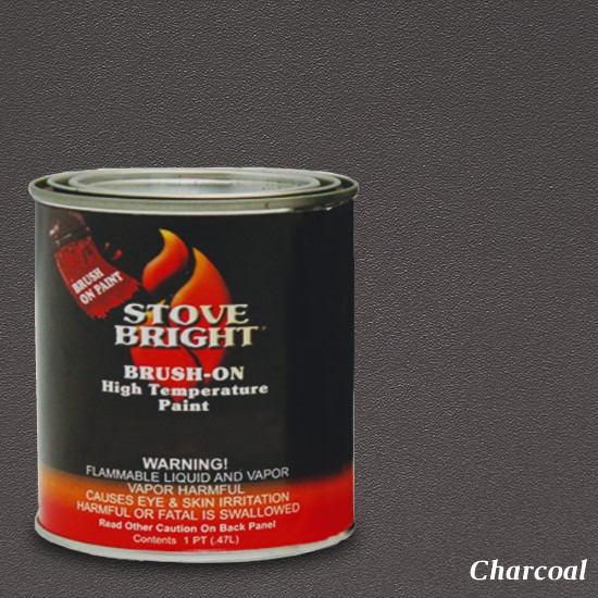 Charcoal Brush On Stove Paint 1 Pint