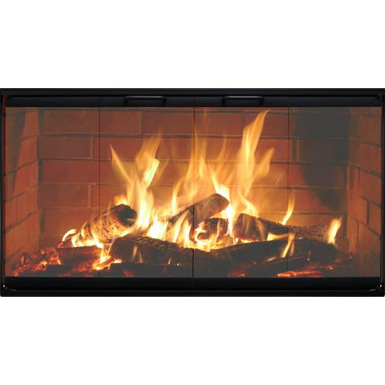 Norwegian Zero Clearance Fireplace Door in Black
