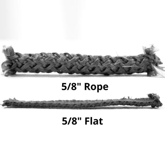 Flat gasket comparison - SHOWN IN BLACK.
