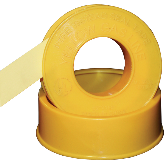 Yellow Gas Line Teflon Tape