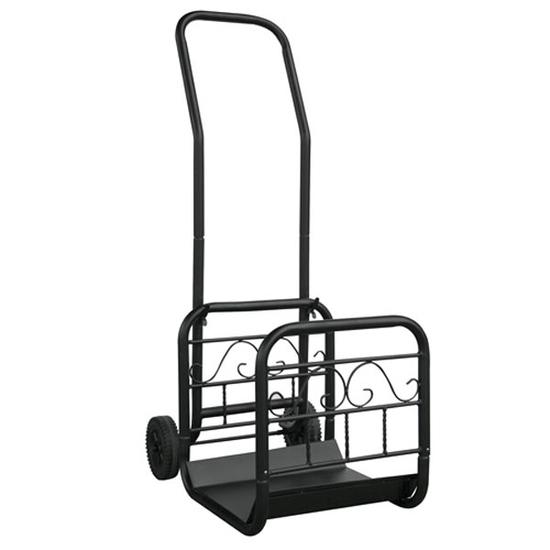 Wood Rack and Cart Combo