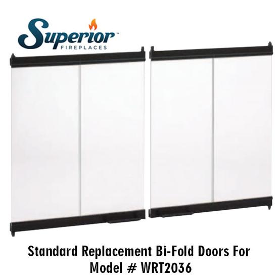 Superior Wood Fireplace Glass Doors BDB36