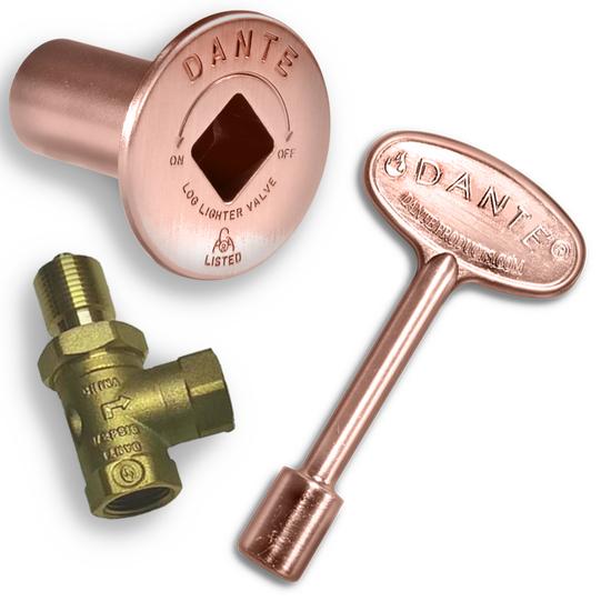Antique copper gas valve kit