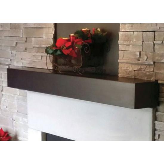Steel Mantel Shelf 24 Inch in matte black